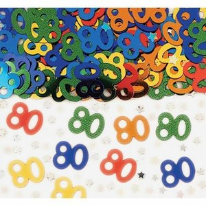 Confetti glitter 80 jaar