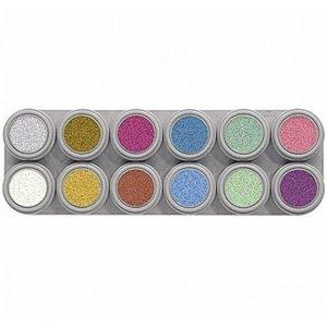 Grimas schmink palet 12 kleuren pearl
