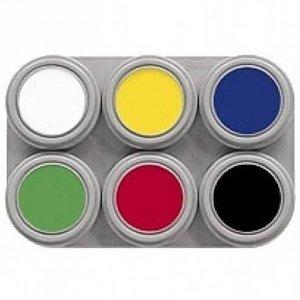 Grimas schmink palet 6 kleuren