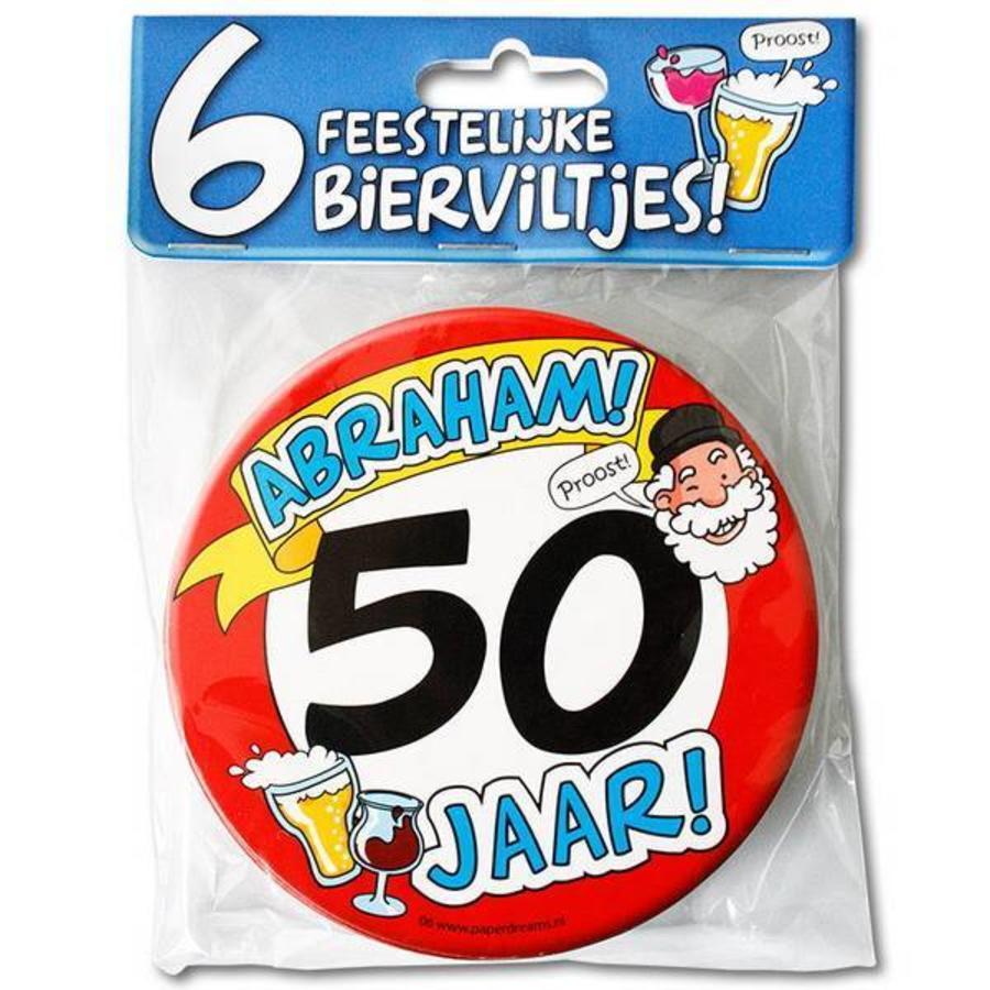 Bierviltjes Abraham 50 jaar