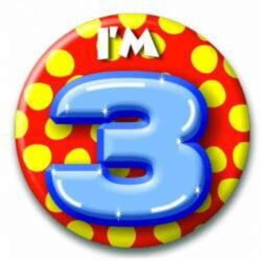 3 jaar button