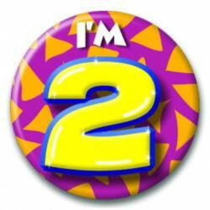 2 jaar button