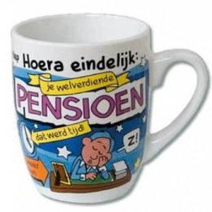 Mok cartoon Pensioen