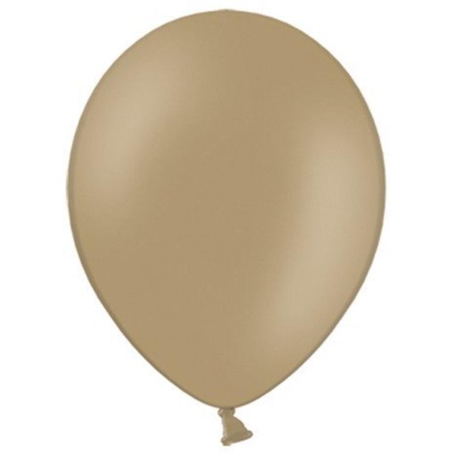 Ballonnen cappuccino 10 stuks