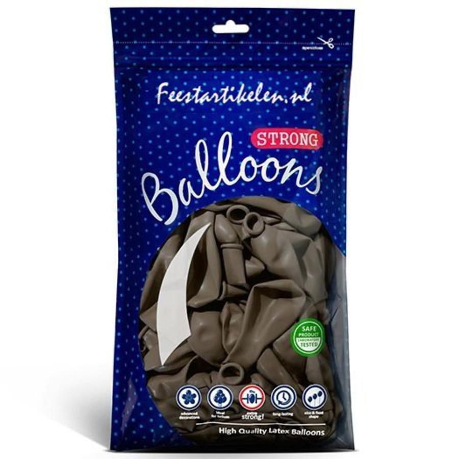 Ballonnen cappuccino 100 stuks
