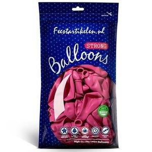 Ballonnen donkerroze 100 stuks