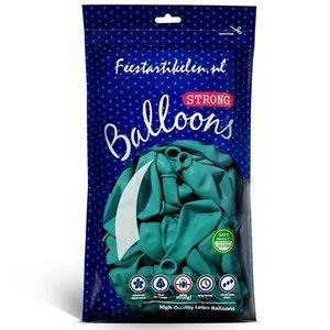 Ballonnen turquoise 100 stuks