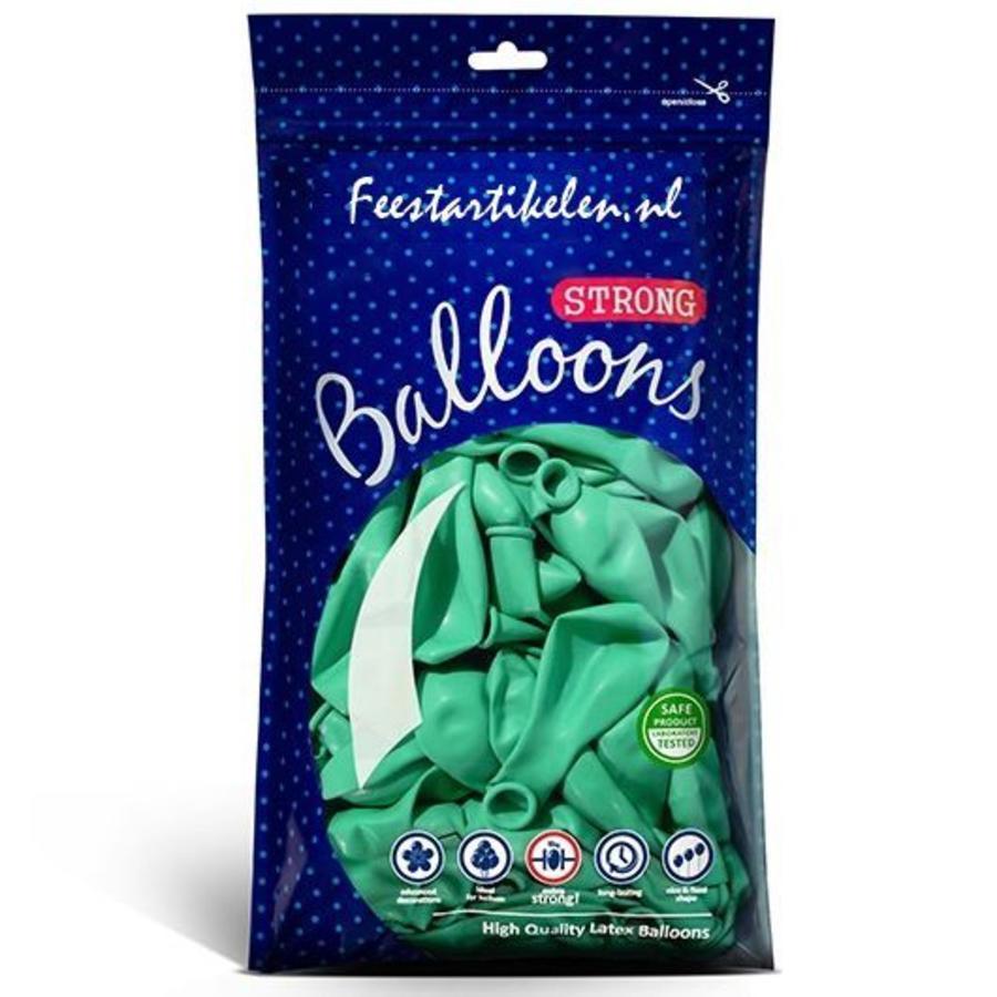 Ballonnen mintgroen 100 stuks