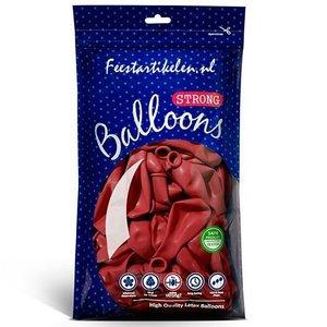 Ballonnen rood 100 stuks