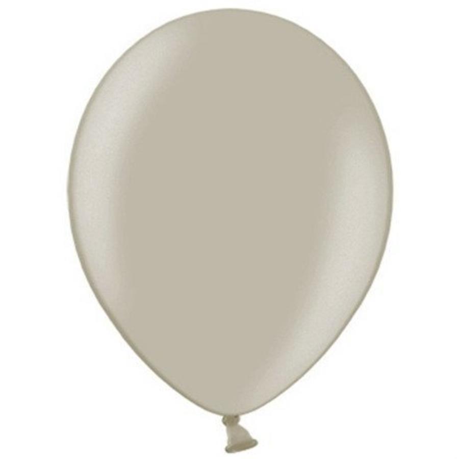 Ballonnen warm grijs 10 stuks