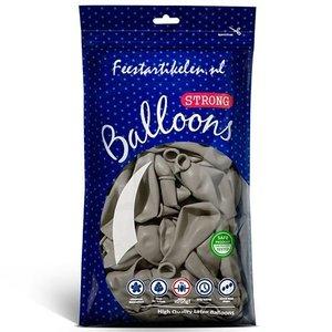 Ballonnen warm grijs 100 stuks