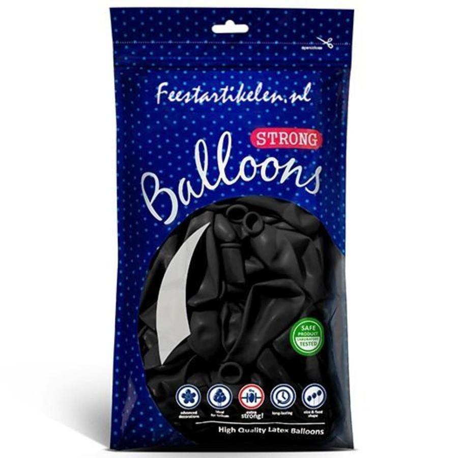 Ballonnen zwart 100 stuks