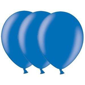 Metallic ballonnen donkerblauw 20 stuks