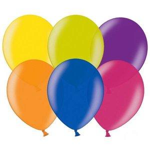 Zak metallic ballonnen gekleurd 100 stuks