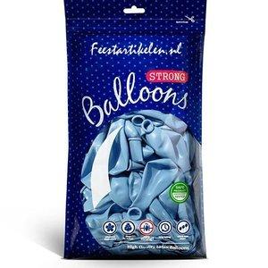 Metallic ballonnen lichtblauw 100 stuks