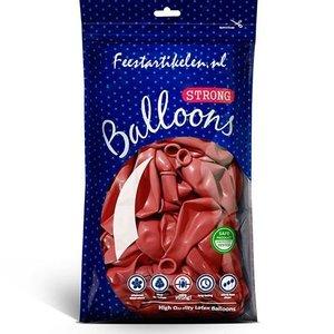 Metallic ballonnen rood 100 stuks