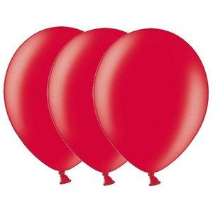 Metallic ballonnen rood 20 stuks
