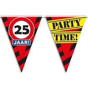 Vlaggenlijn slinger 25 jaar Party Time