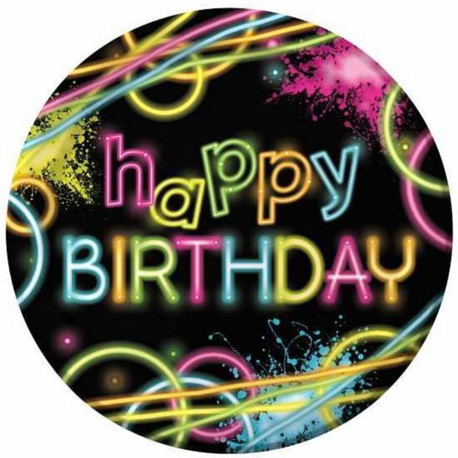 Bordjes Neon Happy Birthday