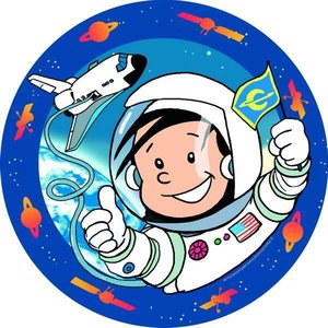 Bordjes Astronaut 8 stuks