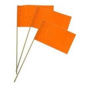 Vlaggetje papier oranje 50 stuks