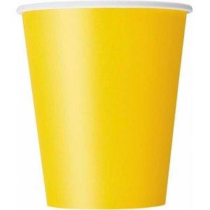 Bekertjes geel 8 stuks
