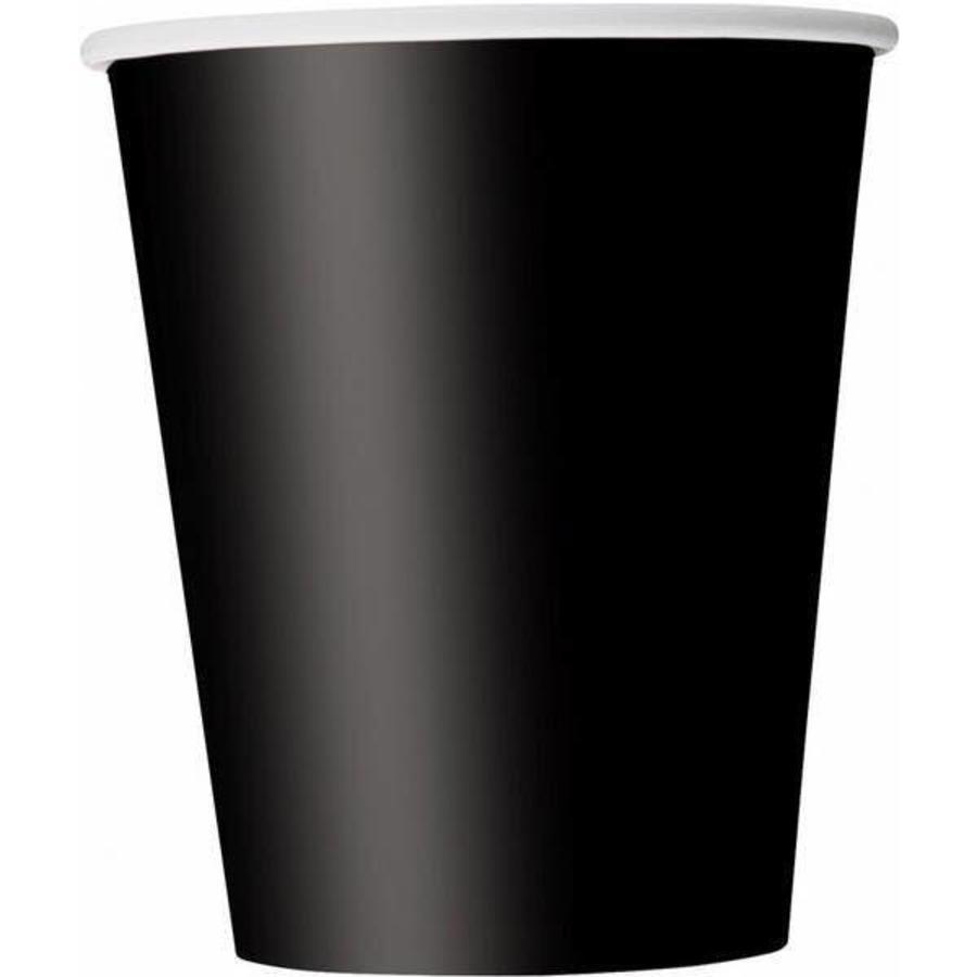 Bekertjes zwart 8 stuks
