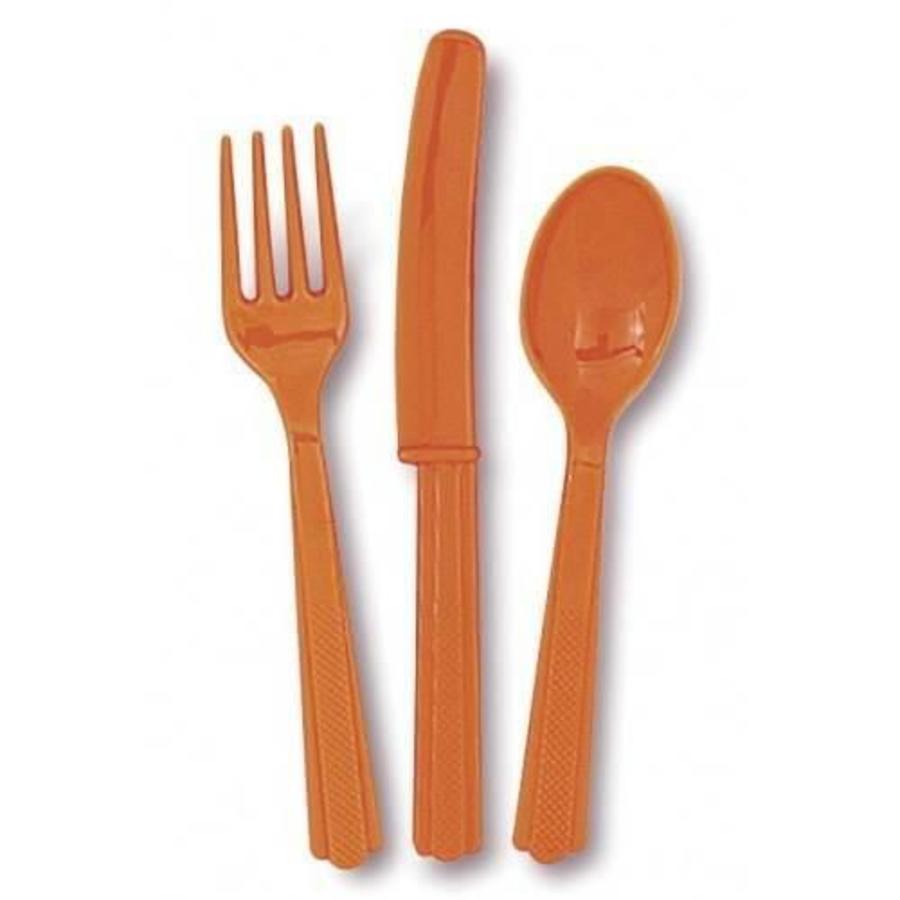 Bestek oranje 24 delig