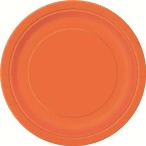 Bordjes oranje 8 stuks