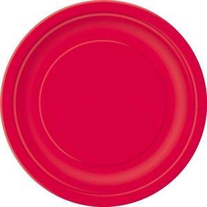 Bordjes rood 8 stuks