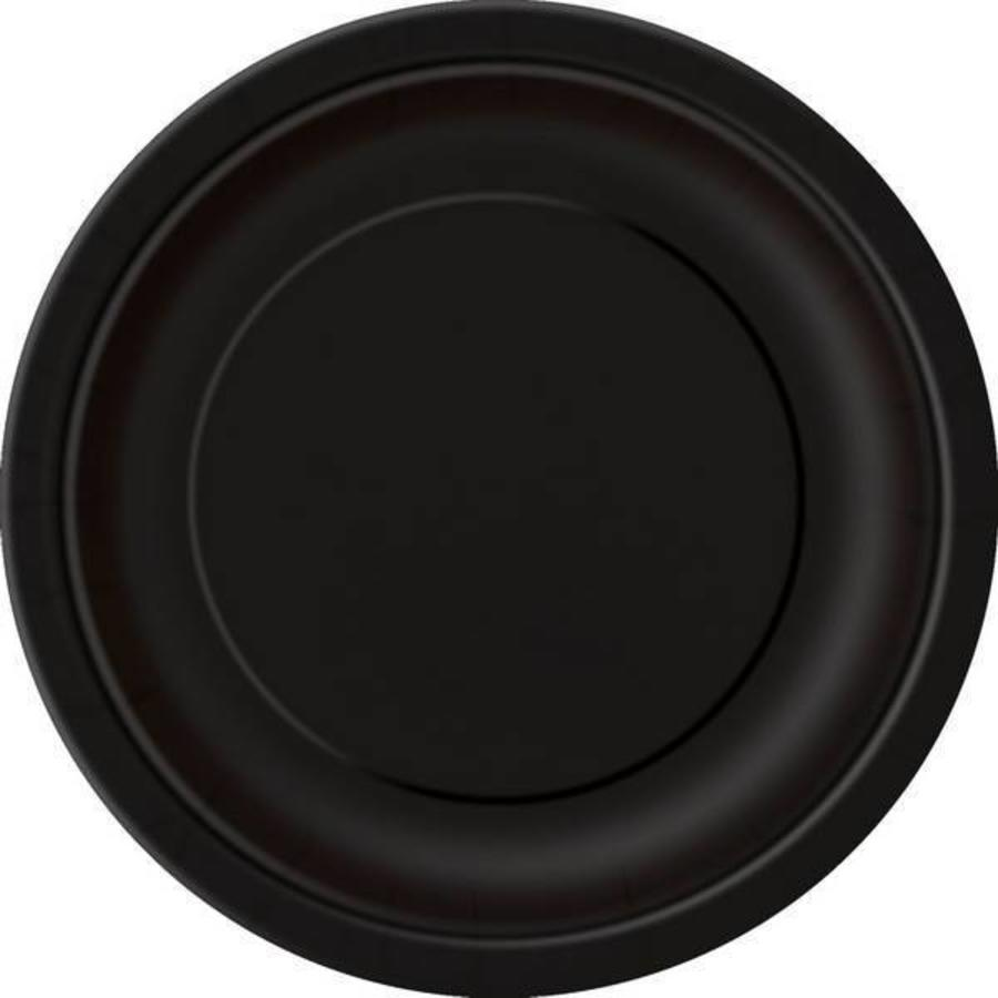 Bordjes zwart 8 stuks