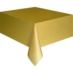 Tafelkleed goudkleurig plastic
