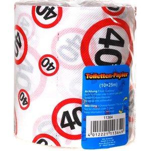 Toiletpapier 40 jaar verkeersbord