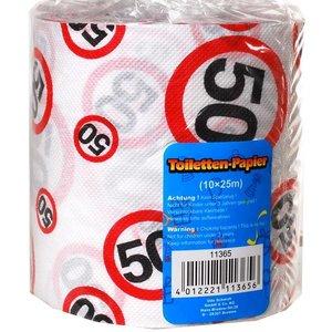 Toiletpapier 50 jaar verkeersbord