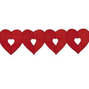 Slinger hart rood klein
