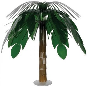 Tafeldecoratie tropische palmboom luxe