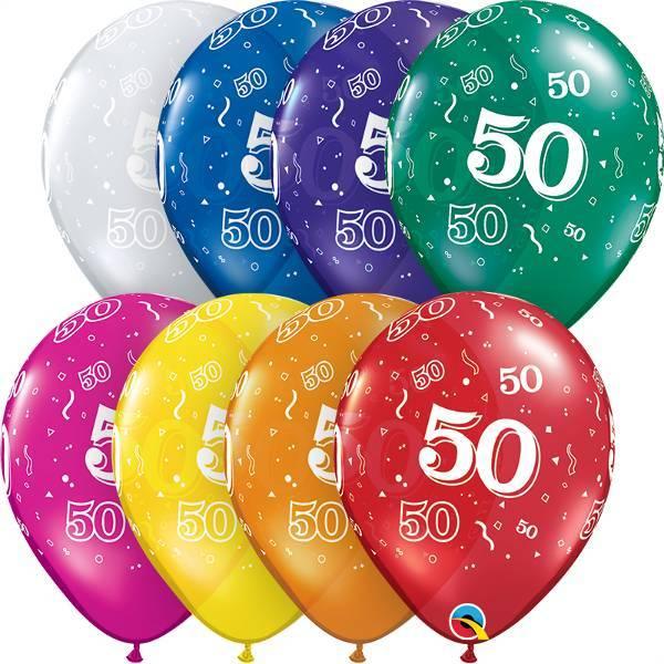 Leeftijd ballonnen van 1 tot en met 100 jaar