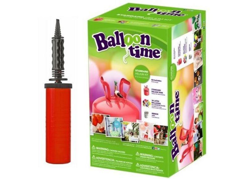 Hulpmiddelen voor ballonnen zoals pompjes en ophangsystemen