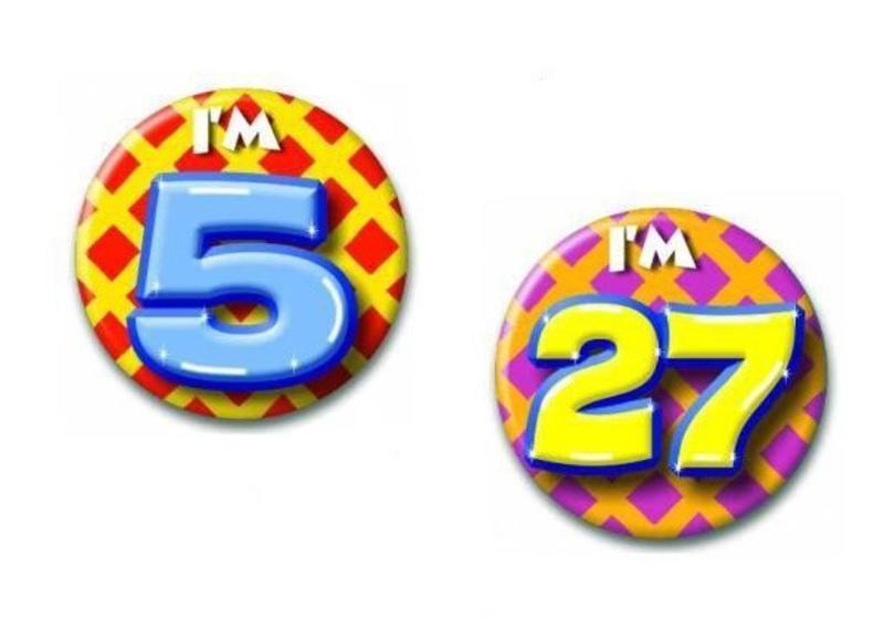 Feestelijke buttons voor allerlei gelegenheden