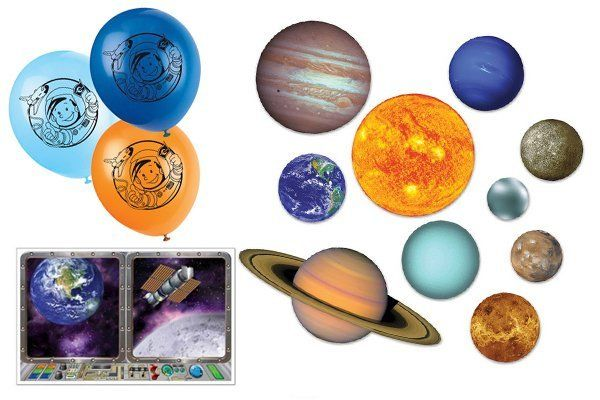 Space en ruimtevaart versiering