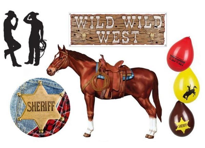 Cowboy en wild west versiering