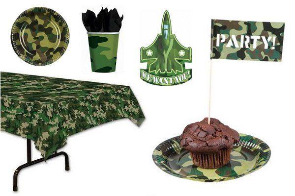 Leger camouflage versiering