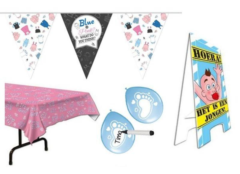 Geboorte versiering kopen voor jongens en meisjes