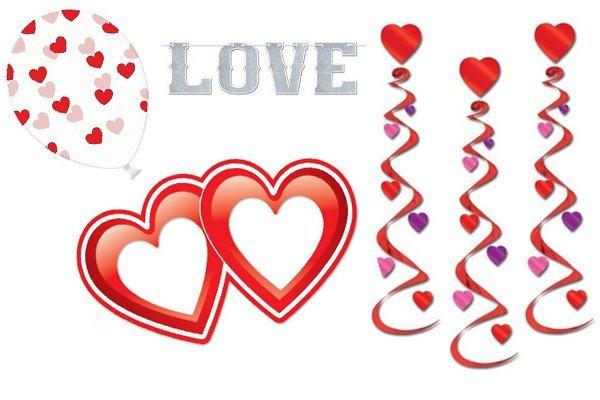 Valentijn versiering en decoratie