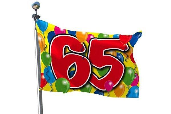 65 jaar verjaardag versiering en decoratie