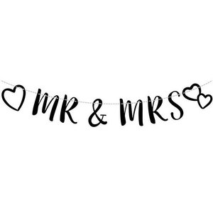 Letterslinger Huwelijk Mr & Mrs