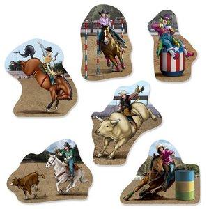 Decoratie Western Rodeo 6 stuks