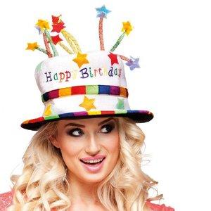 Hoed Happy Birthday TAART