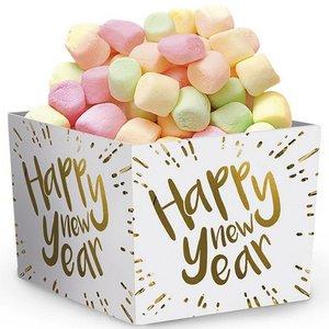Snackbakjes Happy New Year goud wit