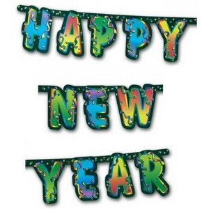 Letterslinger Happy New Year fluor